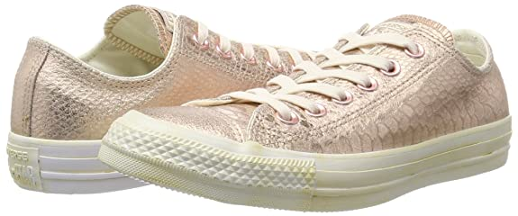 97fa1ac1507 Amazon.com  Converse rosegold white Perlatoleder Size 10.5 US Red  Shoes
