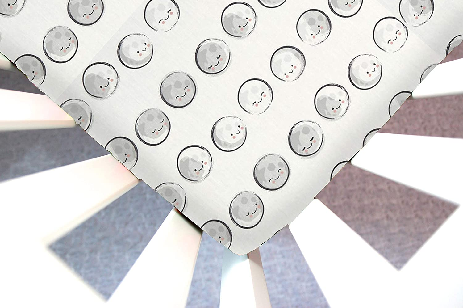 Little Moose by Liza Handmade Sheet Made to Fit The 4Moms Play Yard Model 1028 (Old) inHappy Moons (Moon Phases Gray) This Sheet was Not Created or Sold by ...