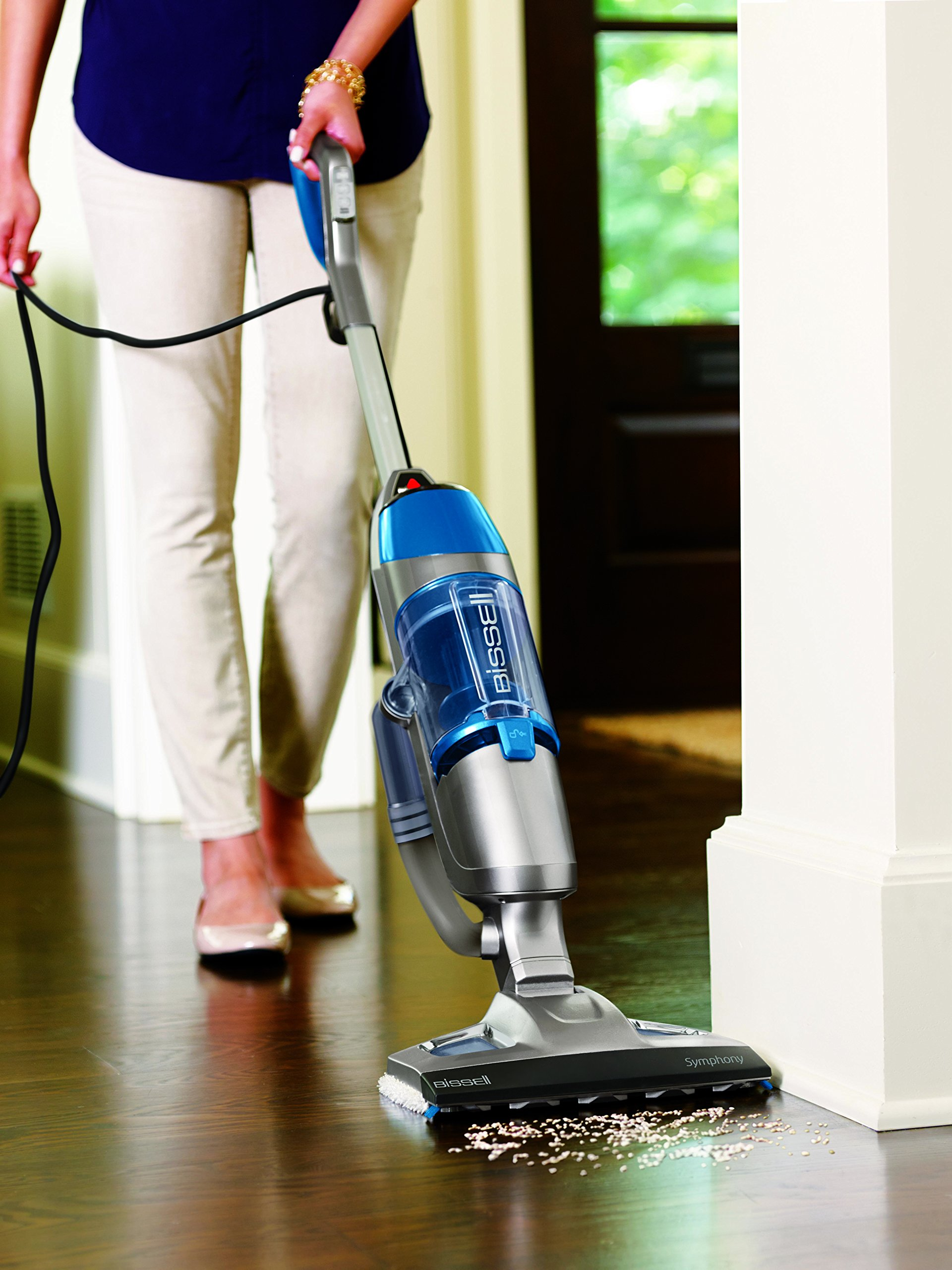 Bissell Symphony Steam Mop and Steam Vacuum for Hardwood and Tile Floors, 4 Mop Pads Included, 1132A by Bissell (Image #7)