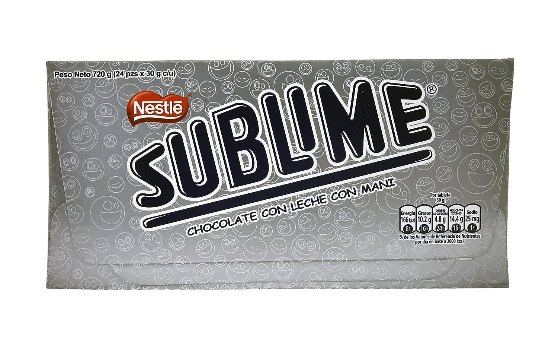 Chocolate Peruano Sublime con Cacahuete - 24 unidades: Amazon.es: Alimentación y bebidas