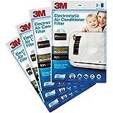 3M Non-Woven Fiber Electrostatic Air Purifying Filter for Split ACS (White, 4 Packs)