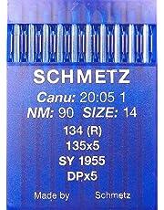 Agujas de coser a máquina Schmetz redondas, 10 unidades, sistema 134 (R)