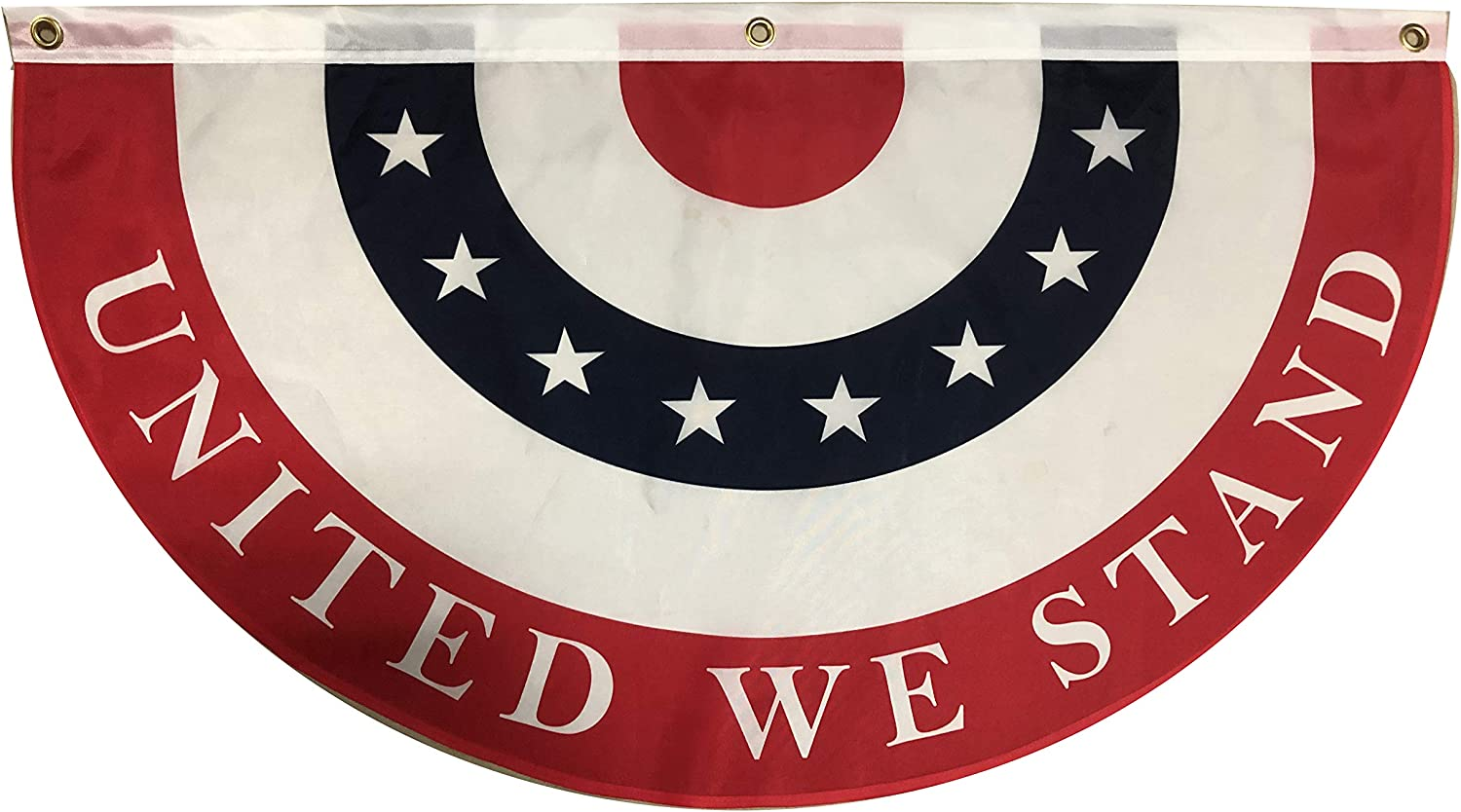 """GiftWrap Etc. United We Stand Bunting Flag – 18"""" x 36"""", American Flag Decor, 4th of July, President's Day, Veteran's Day, USA Red White Blue Outdoor Decor, Church, ROTC, Memorial Day"""