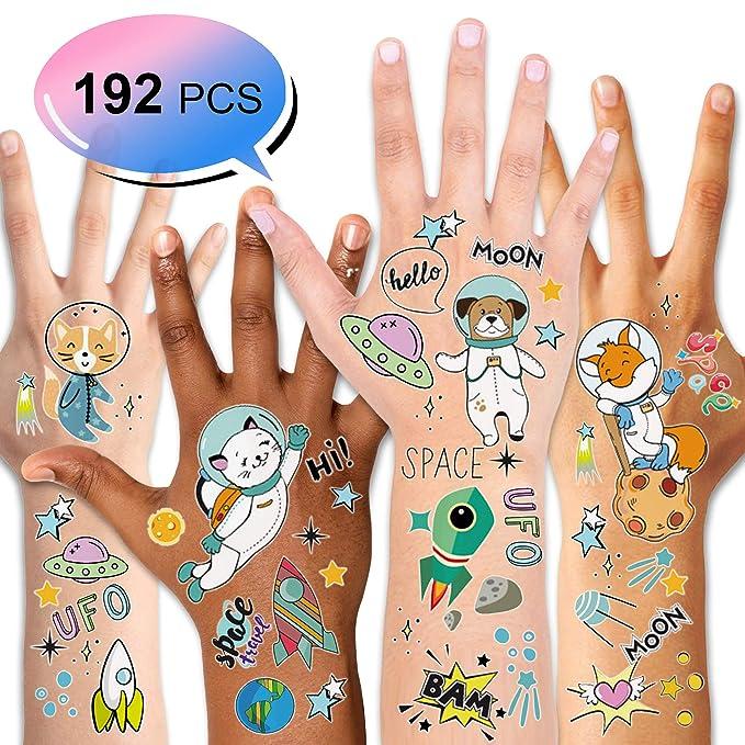 Konsait Tatuajes Temporales para Niños Niñas, Espacio Exterior ...