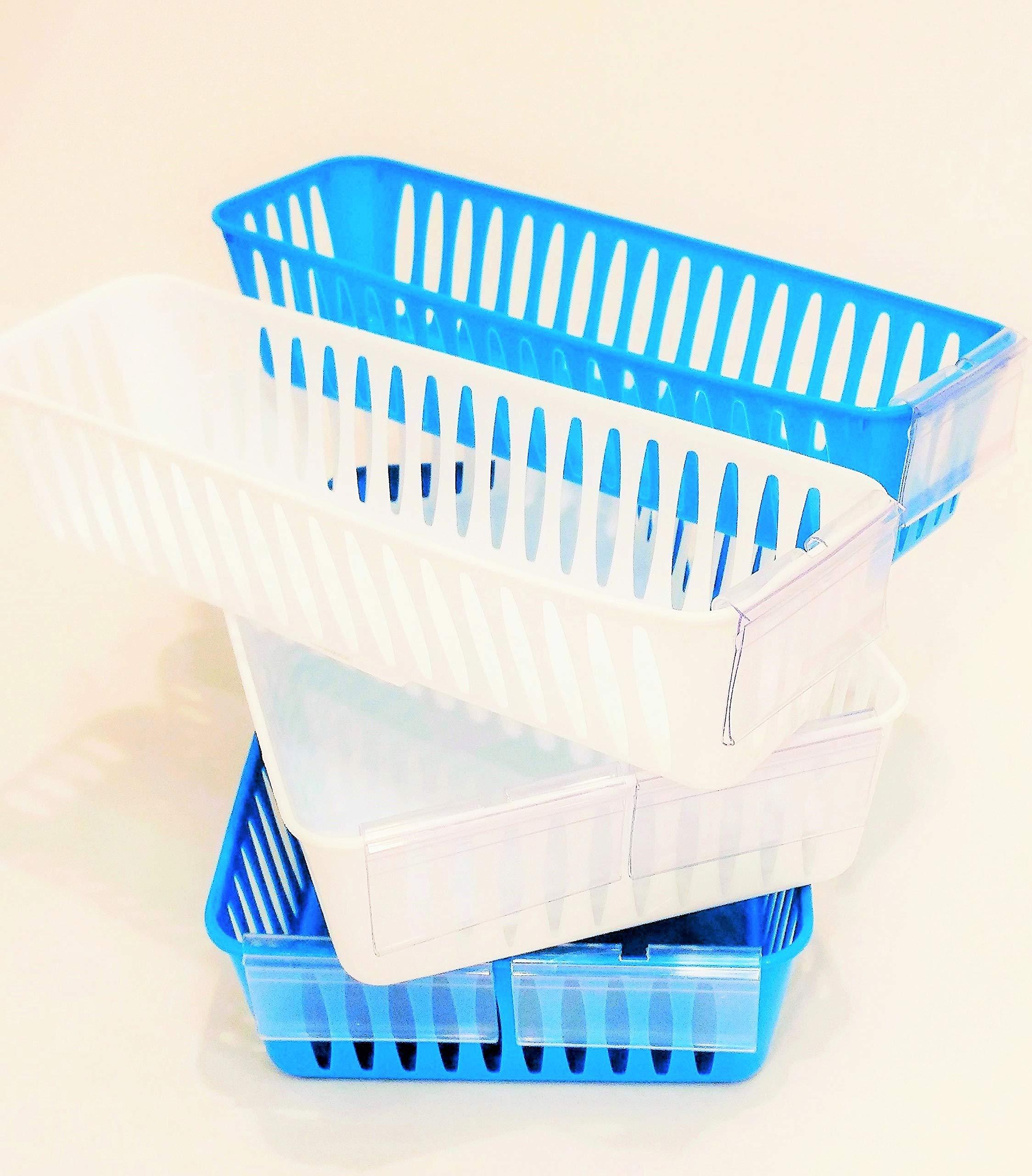 16 Storage Baskets with 24 Label Holders, Assorted Bundle by Quality IZ