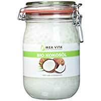 MeaVita Bio Kokosöl, nativ, 2er Pack (2 x 1000 ml) im Bügelglas