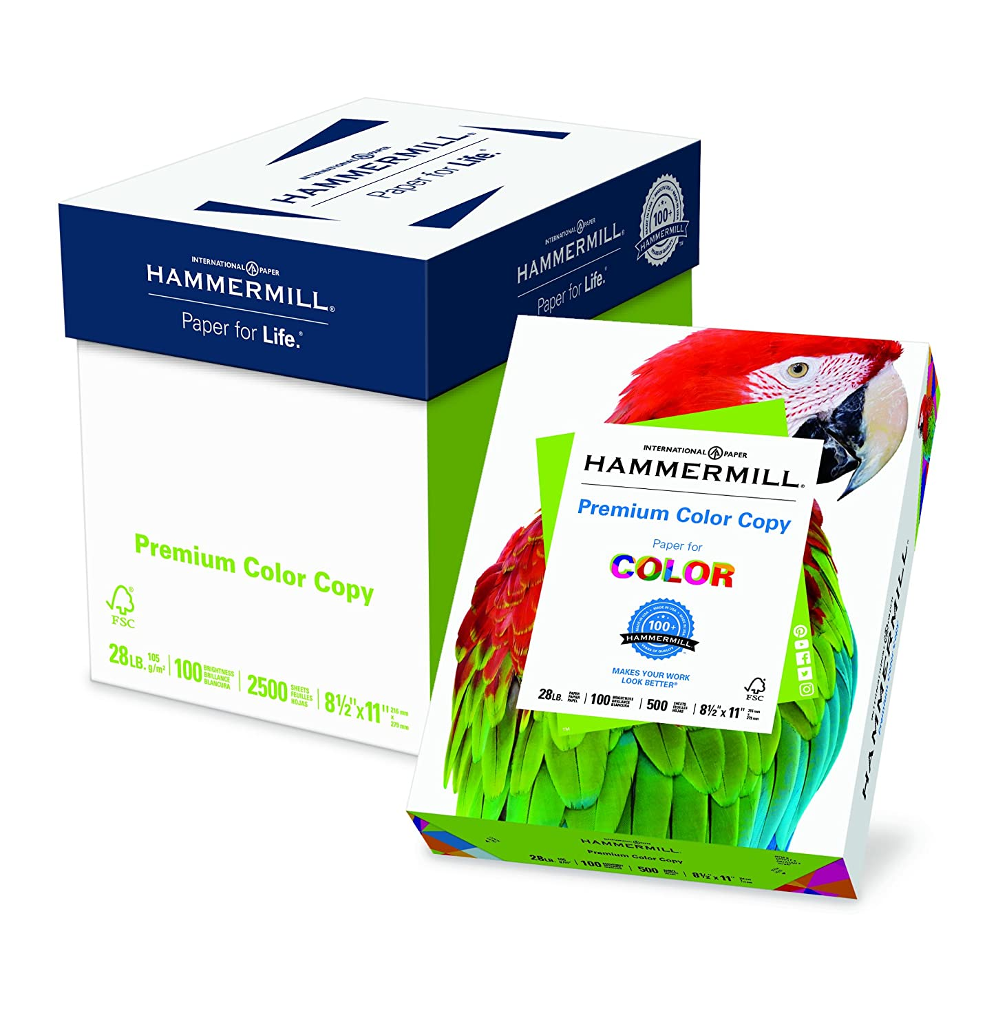 Amazon Hammermill Paper Premium Color Copy Paper 85 X 11