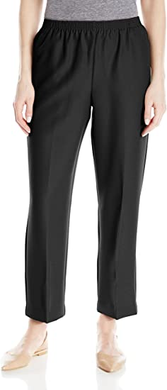 Alfred Dunner All Around Elastic Waist Polyester Short Petite Pants Pull-On Style