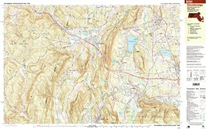 Updated 1999 Historical 7.5 X 15 Minute 24.1 x 39.9 in 1:25000 Scale YellowMaps Stockbridge MA topo map 1997