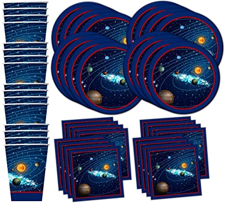 Amazoncom Solar System Outer Space Birthday Party Supplies Set