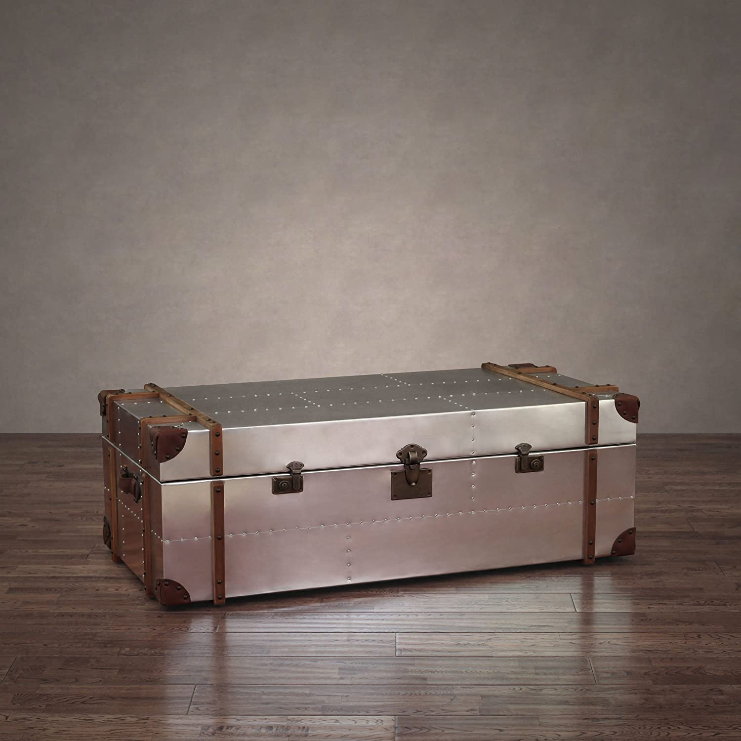 Amazon ZallZo mander Aluminum Storage Trunk Coffee Table