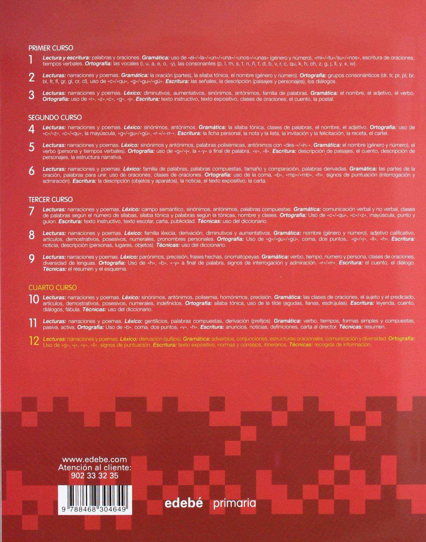 CUADERNO LENGUA 12-9788468304649: Amazon.es: Obra Colectiva Edebé: Libros
