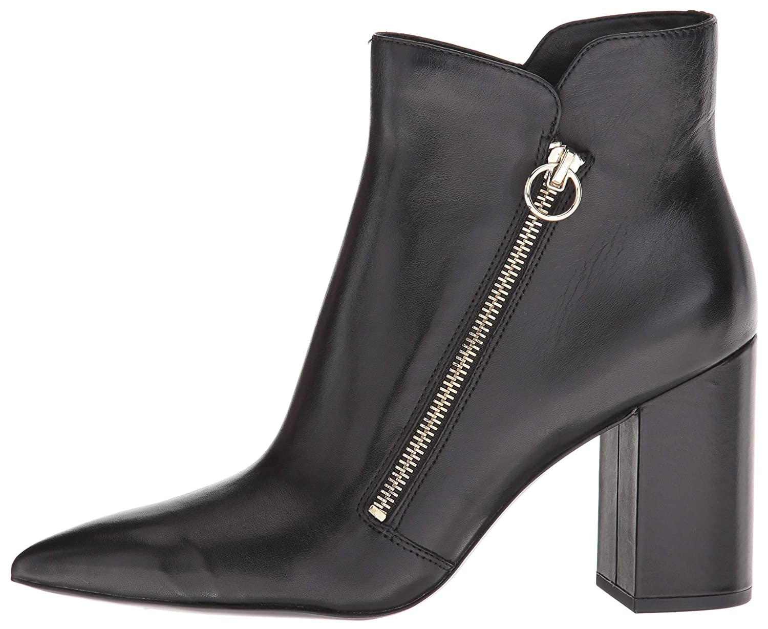 Nine West Womens Russity Leather Ankle Boot