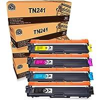 FITU WORK TN-241 TN-245 Cartucho de tóner Compatible para Brother DCP-9020CDW DCP-9015CDW HL-3140CW HL-3150CDW HL…