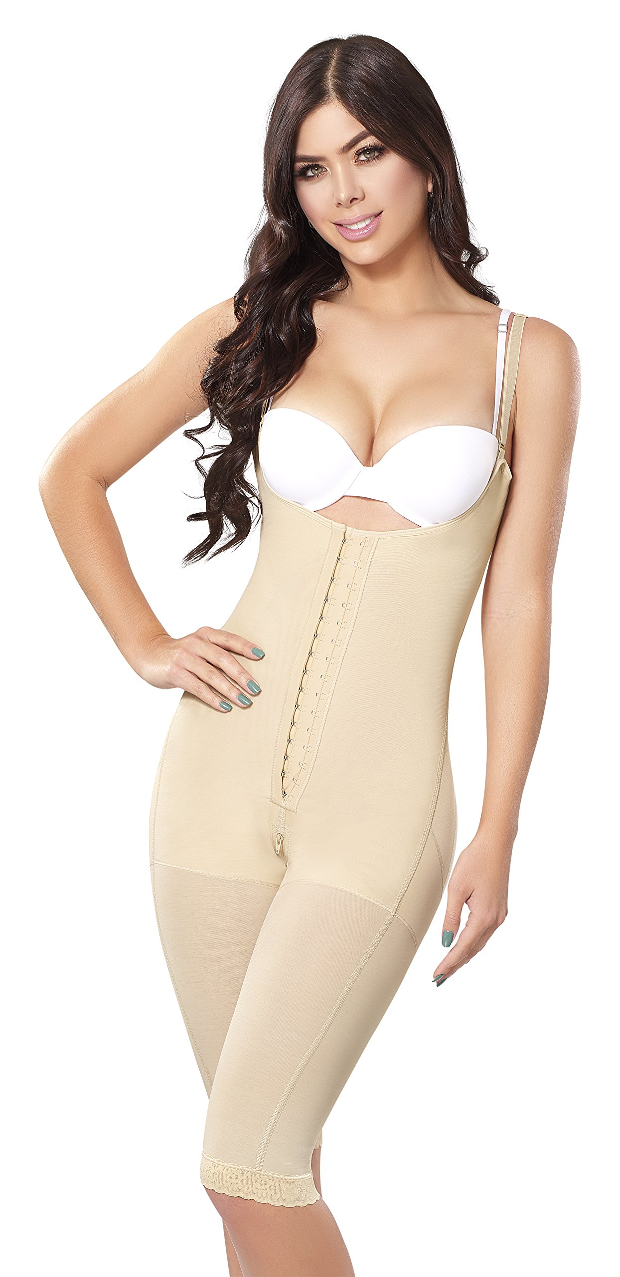 728bbe67979 Shape Concept Fajas Colombianas Reductoras y Moldeadoras High Compression  Garments After Liposuction Full Bodysuit SCM0068 (Beige