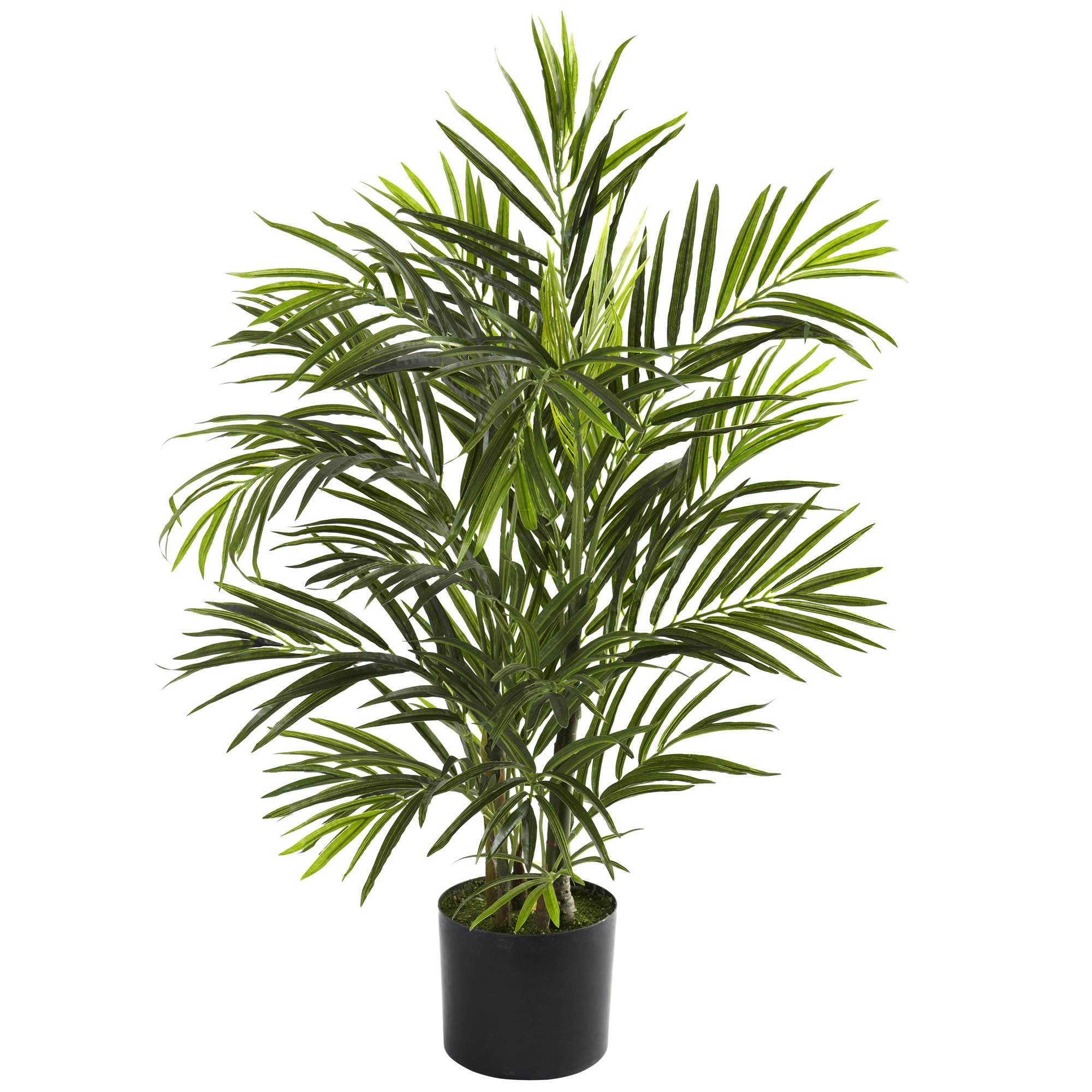 Nearly Natural 5387 Areca Palm UV Resistant Tree, 2.5-Feet, Green by Nearly Natural