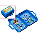 My Brick Case: Portable Storage For Kids Building Bricks With Play Surface For Storing And Building Bricks On-The-Go (Blue)