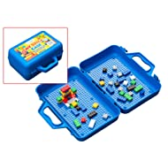 ModFamily My Brick Case: Portable Storage for Kids Building Bricks with Play Surface for Storing and Building Bricks On-The-Go (Blue)