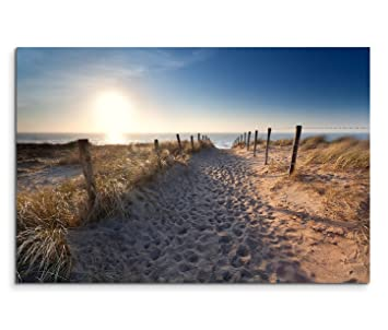 Strand nordsee sonnenuntergang  Amazon.de: 120x80cm Leinwandbild auf Keilrahmen Holland Nordsee ...