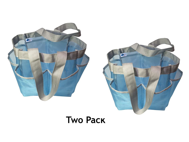 Amazon.com: Value 2 Pack - Two Premium Mesh Quick Dry Mesh Shower ...