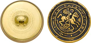 product image for C&C Metal Products 5165 Latin Horse Rider Metal Button, Size 36 Ligne, Antique Gold, 36-Pack