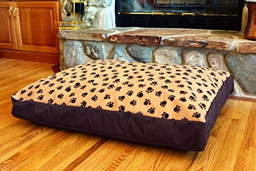 100 Waterproof Fleece DIY Design-It-Yourself Dog Bed Cover Made in USA Cover ONLY