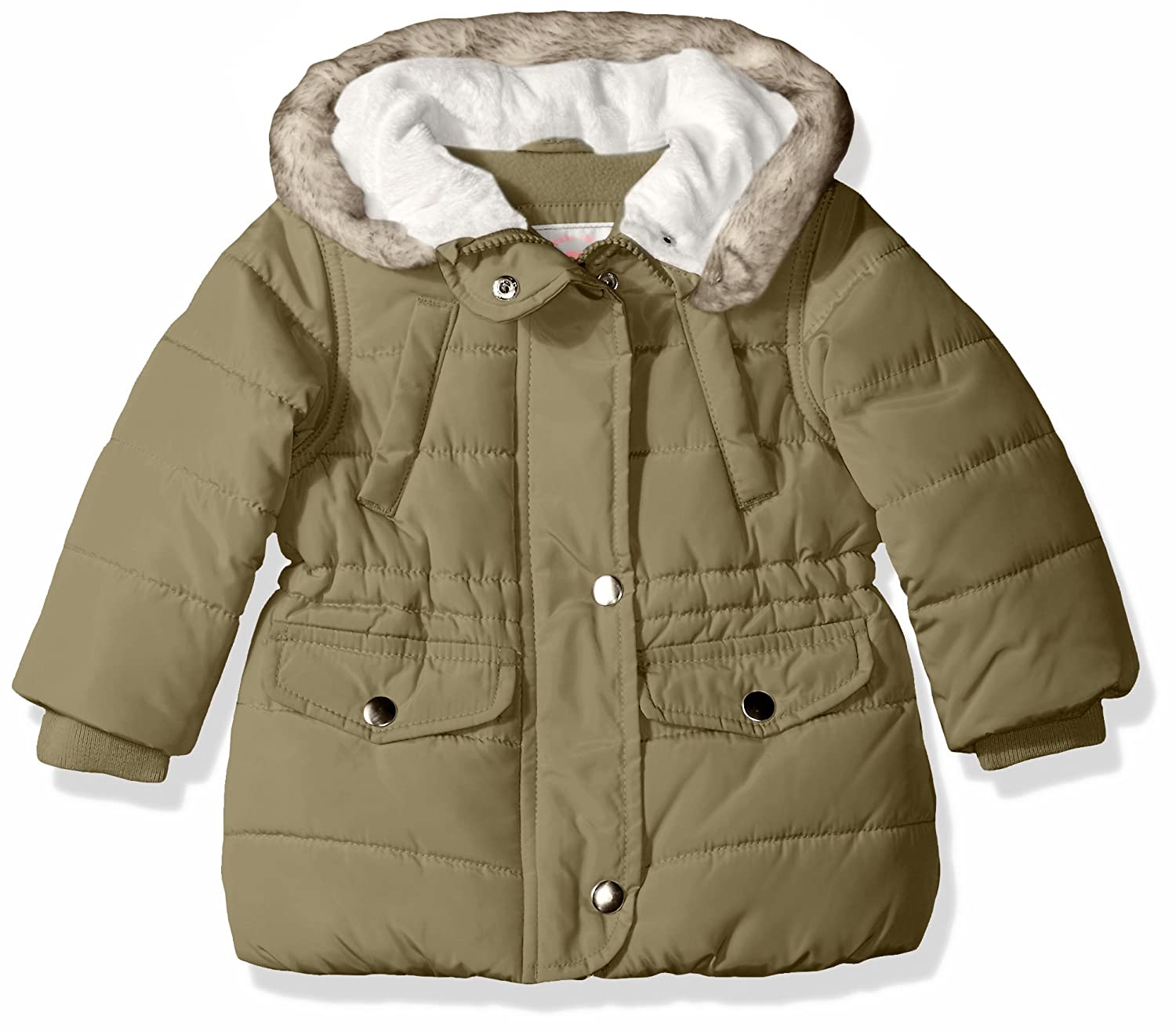 Carter's Baby Girls' Cozy Hood Puffy Jacket Coat Fort Green 24M Carter's C217562