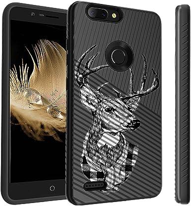 Untouchble Funda para ZTE Blade ZMAX Skull Case, ZTE Zmax Pro 2, ZTE Sequoia Case [Stripe Force] a Prueba de Golpes Premium TPU Inner Skin Layer con Plástico rígido Cubierta Exterior: Amazon.es: