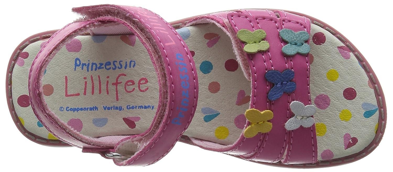 Prinzessin Lillifee410371 - Sandalias de Punta Descubierta Niñas, Color Rosa, Talla 29