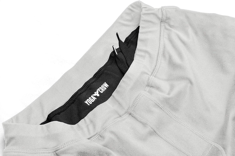 YOGA CROW Mens Pocketless Swerve Shorts w//Odor-Resistant Inner Liner