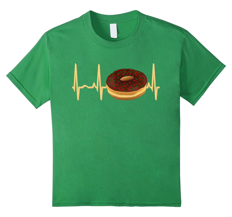 Mens Donut Heartbeat Shirt Christmas-Tovacu
