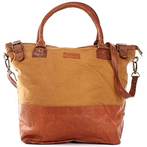 893eece65b60a LECONI XL Shopper für Damen kleiner Weekender Beuteltasche große Frauen  Schultertasche Wickeltasche Umhängetasche aus Canvas