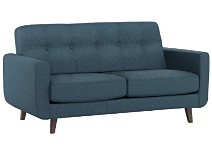 Amazon.com: Rivet Sloane Mid-Century Modern Tufted Loveseat Sofa ...