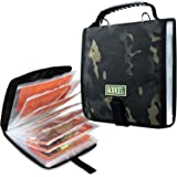 Rodeel Fishing Tackle Binder,Sea Fishing Organized Storage Rig Bag for Baits,Rigs,Jigs and Lines,8.5x8.5x1.1 Inches…