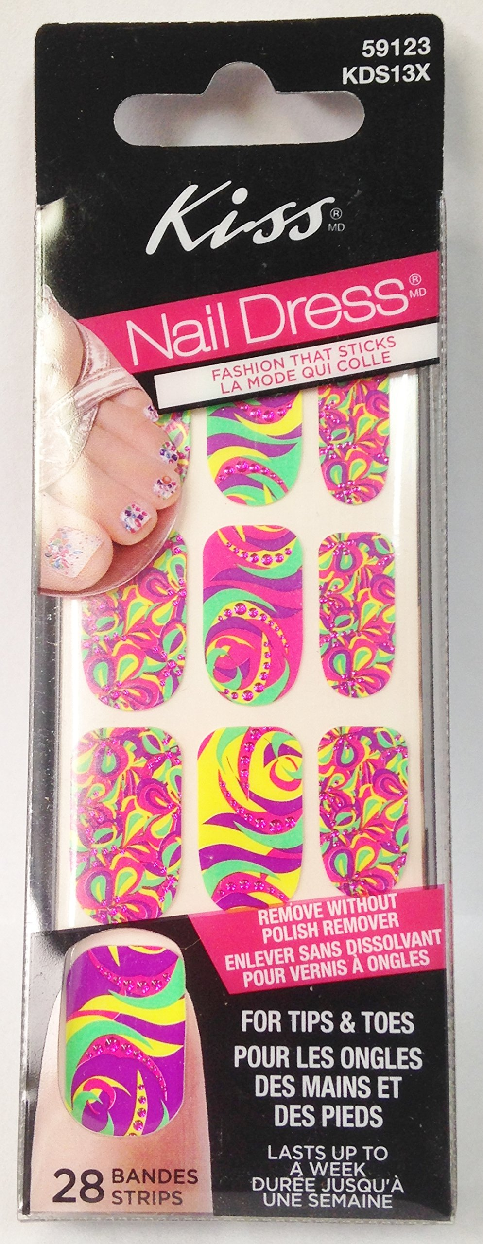 Kiss Nail & Toe Art Over 50 Stickers (Ks51020) 1 Package for ...