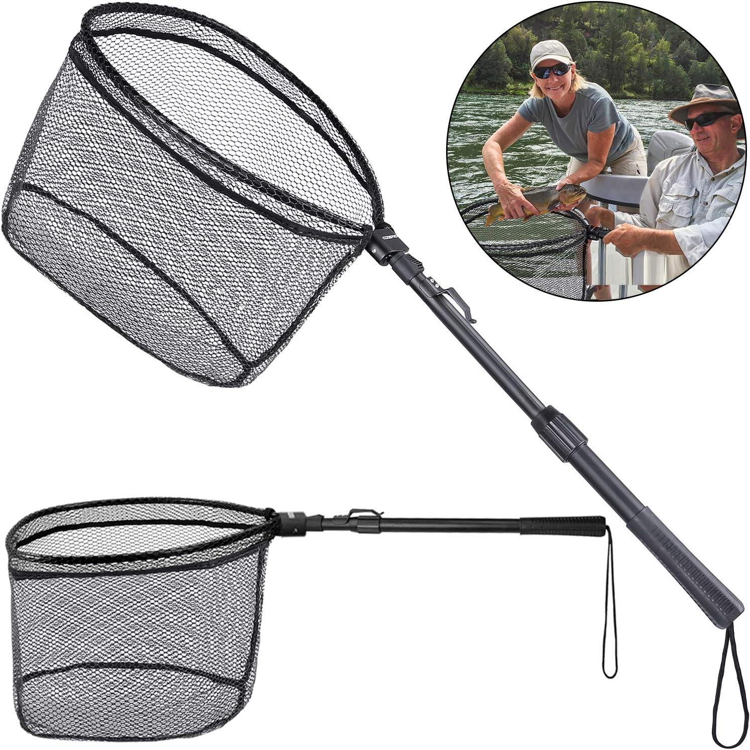 Mrocioa Fishing Net Angling Landing Nets Fishing Folding Landing Net