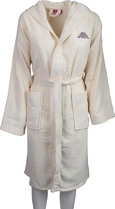 Albornoz Kappa de Suave Rizo de Puro algodón para Hombre o Mujer, Color Liso, Ideal para Uso Deportivo Beige ecrù S: Amazon.es: Hogar