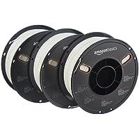 AmazonBasics Filament PLA pour imprimante 3D 1,75 mm, Blanc Bobine 1 kg 3 bobines