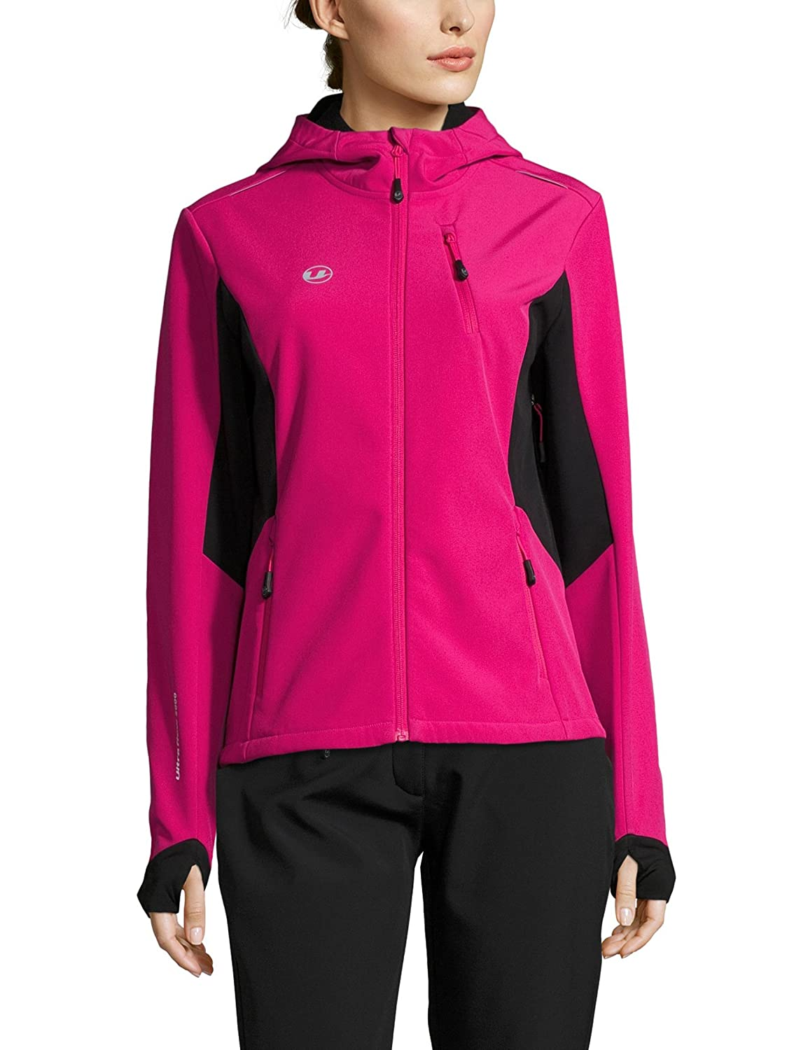Rose Noir XL Ultrasport Advanced Bibi Veste Softshell Femme