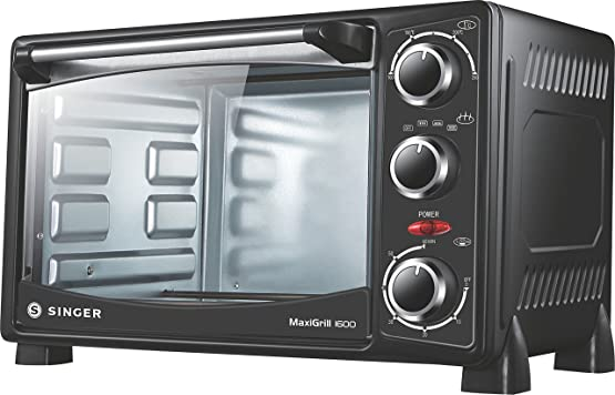 Singer MaxiGrill 1600 Oven Toaster Grill 1400 Watts 16 Litres Oven Toaster Grills at amazon