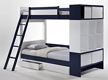 Gentil Status Aventura Bunk Bed With Trundle Drawers And Storage, Twin Over Twin,