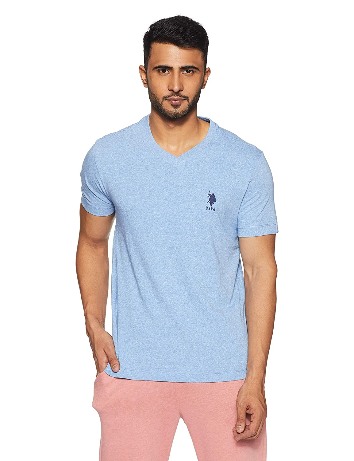 Us Polo Mens Solid Regular Fit T Shirt Amazon Clothing