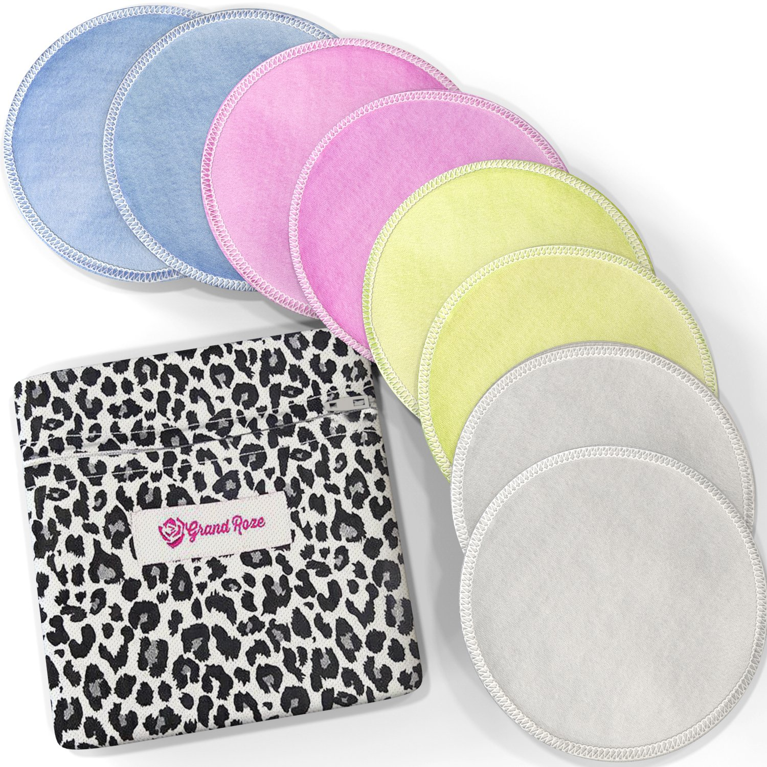 Softest Cotton Washable Nursing Pads - Reusable for Breastfeeding Women - Natural Antibacterial, Non Toxic-Hypoallergenic, Eco-friendly Pads - Super Water Absorbent that Stops Leaking & Collects Milk