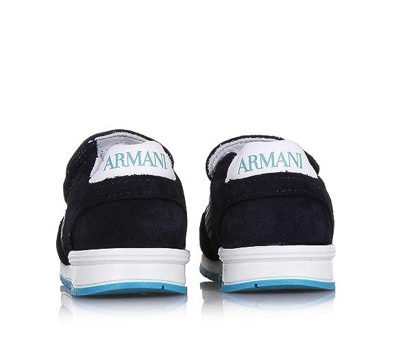 Armani Scarpa Blu in Camoscio e Tessuto f8d2e05e2dc