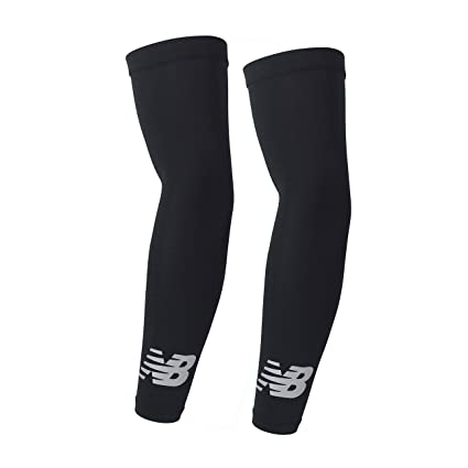 d16e39c170de0 New Balance Unisex Outdoor Sports Compression Arm Sleeves, Arm Warmer, Black,  Small and