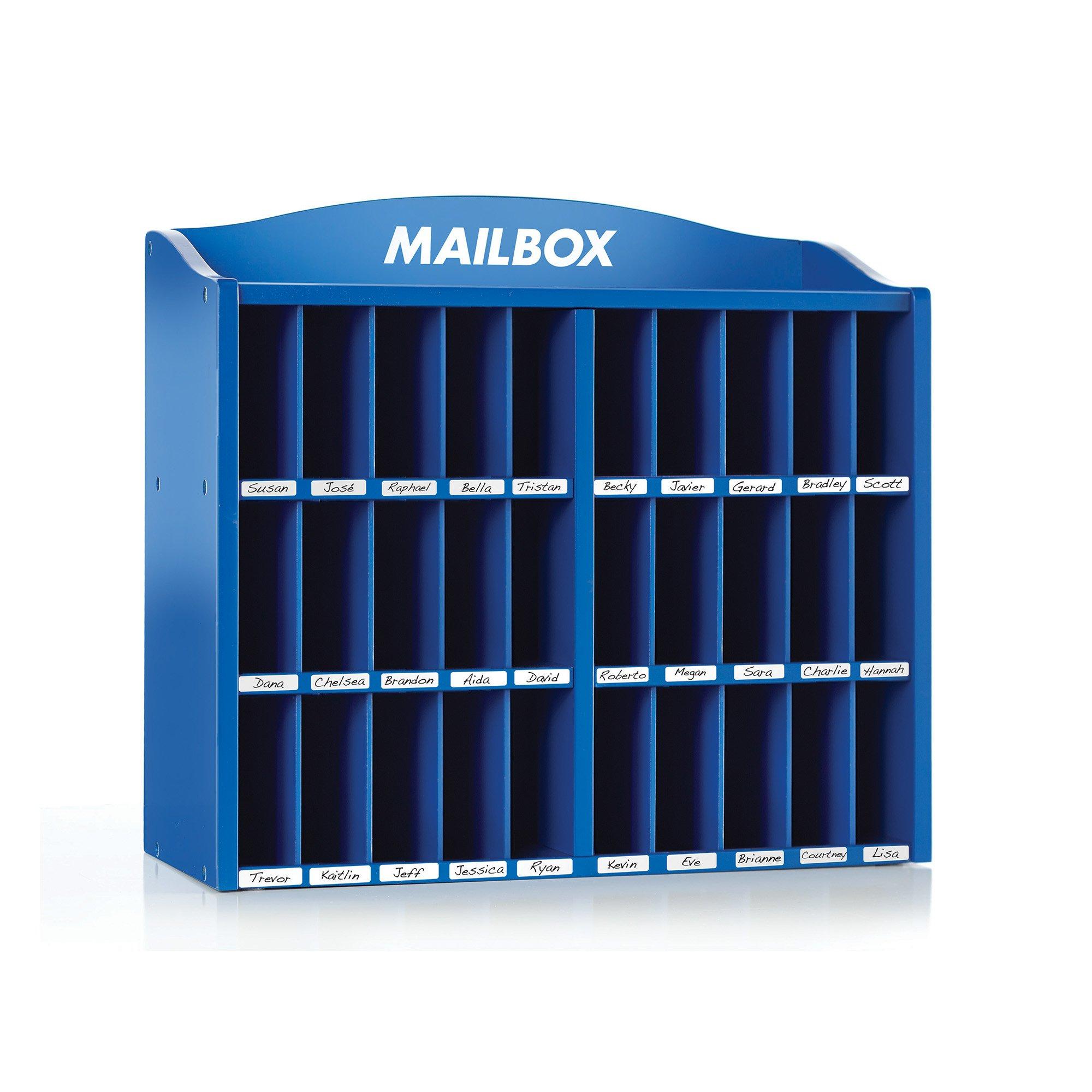 Guidecraft Preschool Classroom Mail Center - Classroom Organizer, 30 Compartment - Office School Supply Furniture