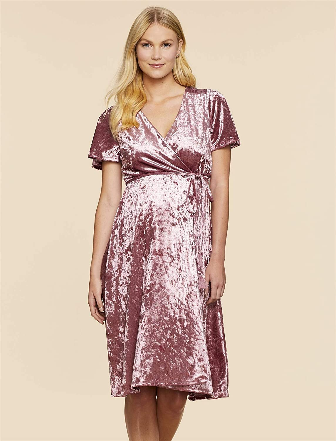 a5cf4c4255f21 Jessica Simpson Wrap Maternity Dress at Amazon Women's Clothing store: