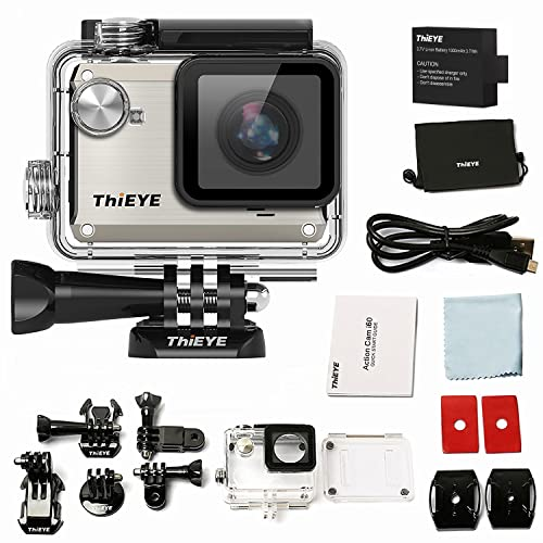 thieye I30Sport DV Action Camera 1080p 12MP 155° Wide Angle 40m water proof Camera DVR, Colour–silber I30