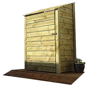 De madera extra grande de un solo bahía Elm Log Store con puerta – 6 ft