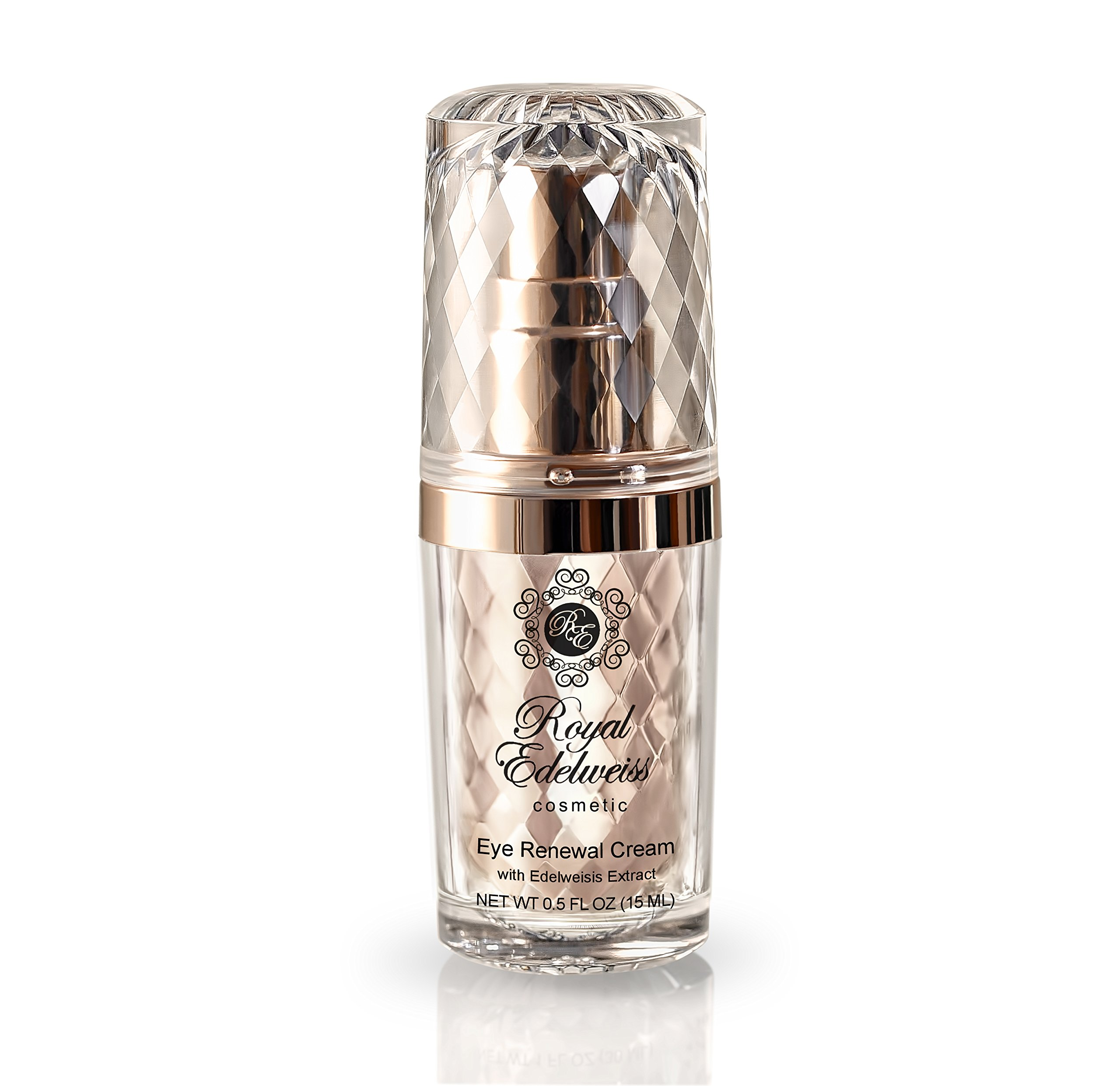 ROYAL EDELWEISS SKINCARE ROSE GOLD EYE RENEWAL CREAM W/ EDELWEISS EXTRACT (0.5OZ)